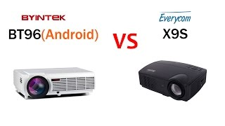 projector review bt96 android vs everycom x9s