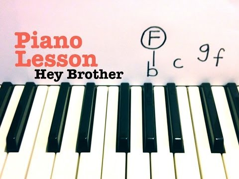 Hey Brother - Piano Lesson / Tutorial - Avicii