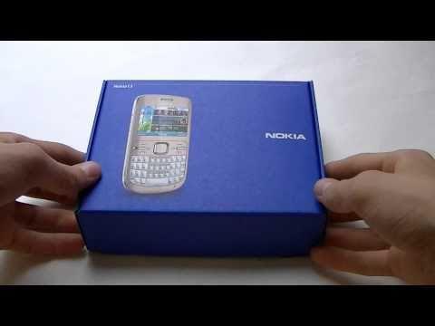 Nokia C3-00 unboxing