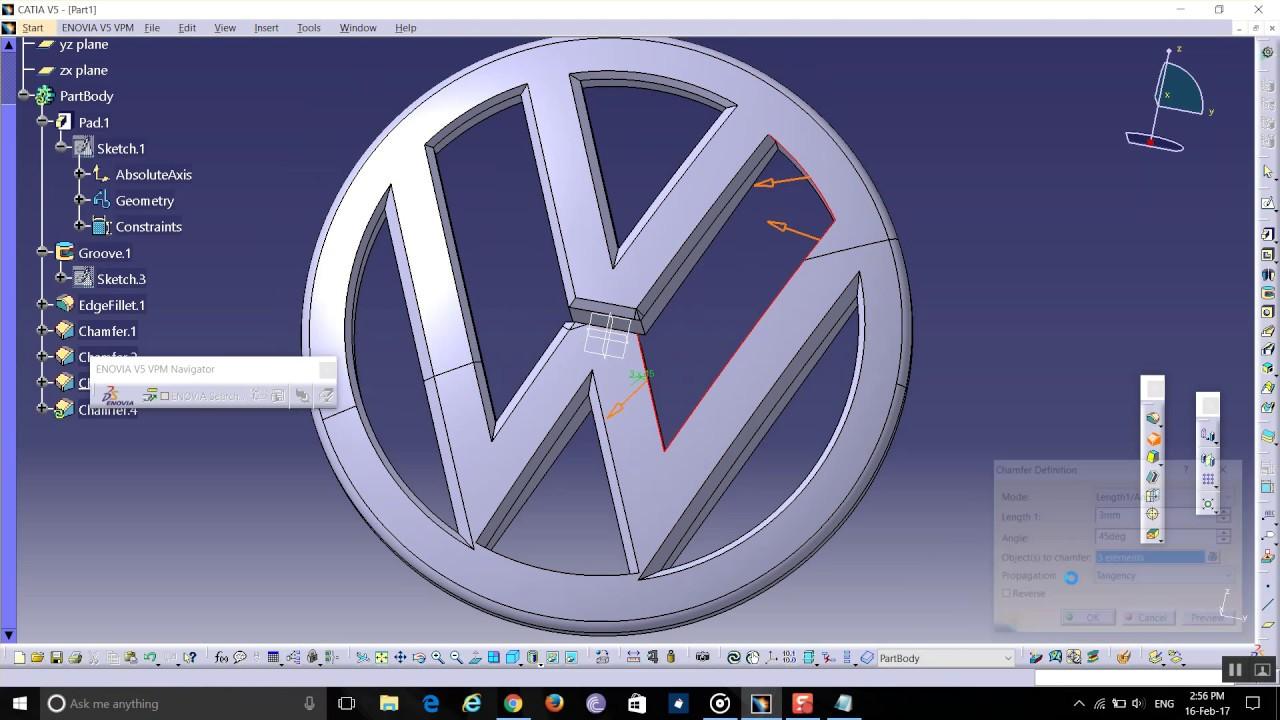 Volkswagen catia v5 youtube volkswagen catia v5 sciox Gallery