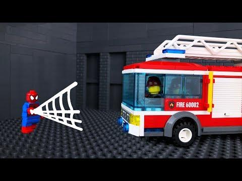LEGO Мультик 🎡 Человек Паук Спасает Ребенка 🚒 Пожарная Машина не Помогла
