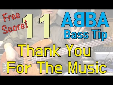 [ABBA Bass Tip] 11. Thank You For The Music (tutorial, free score) thumbnail