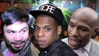 TMZ -JAY Z HOSTING MAYWEATHER - PACQUIAO PARTY - VIP at $50K