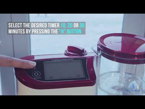 Watch how to set up and use Lourdes hydrogen water generator HS-81