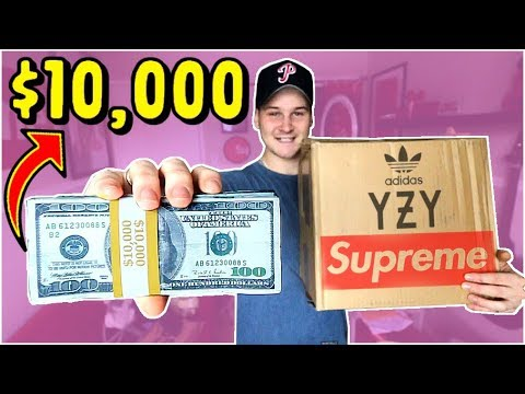 WHATS INSIDE A $10,000 HYPEBEAST MYSTERY BOX!! (NO CLICKBAIT)