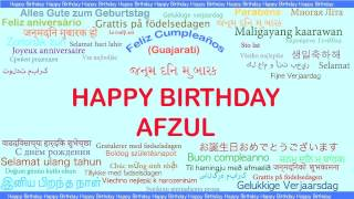 Afzul   Languages Idiomas - Happy Birthday