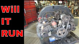 Will IT Run? vw Bus engine out of a Barn.