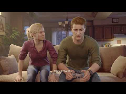 Uncharted 4: A Thief's End™ Nathan Drake Elena Fisher Sex scene and crash bandicoot trophy