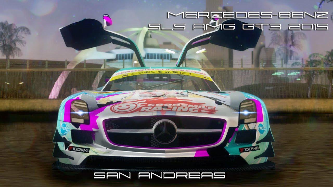 Sa Mercedes Benz Sls Amg Gt3 2015 Hatsune Miku Youtube