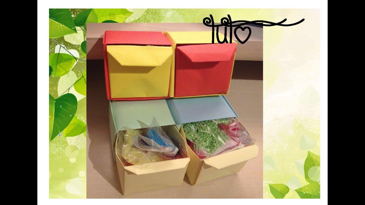 tuto bo te deux tiroirs en papier youtube. Black Bedroom Furniture Sets. Home Design Ideas