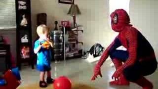 Spiderman at Augustine's 2nd Birthday