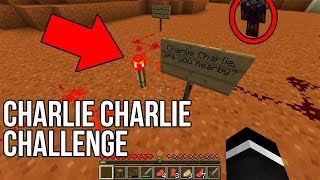 I did the CHARLIE CHARLIE CHALLENGE in Minecraft... (Do NOT Try This)