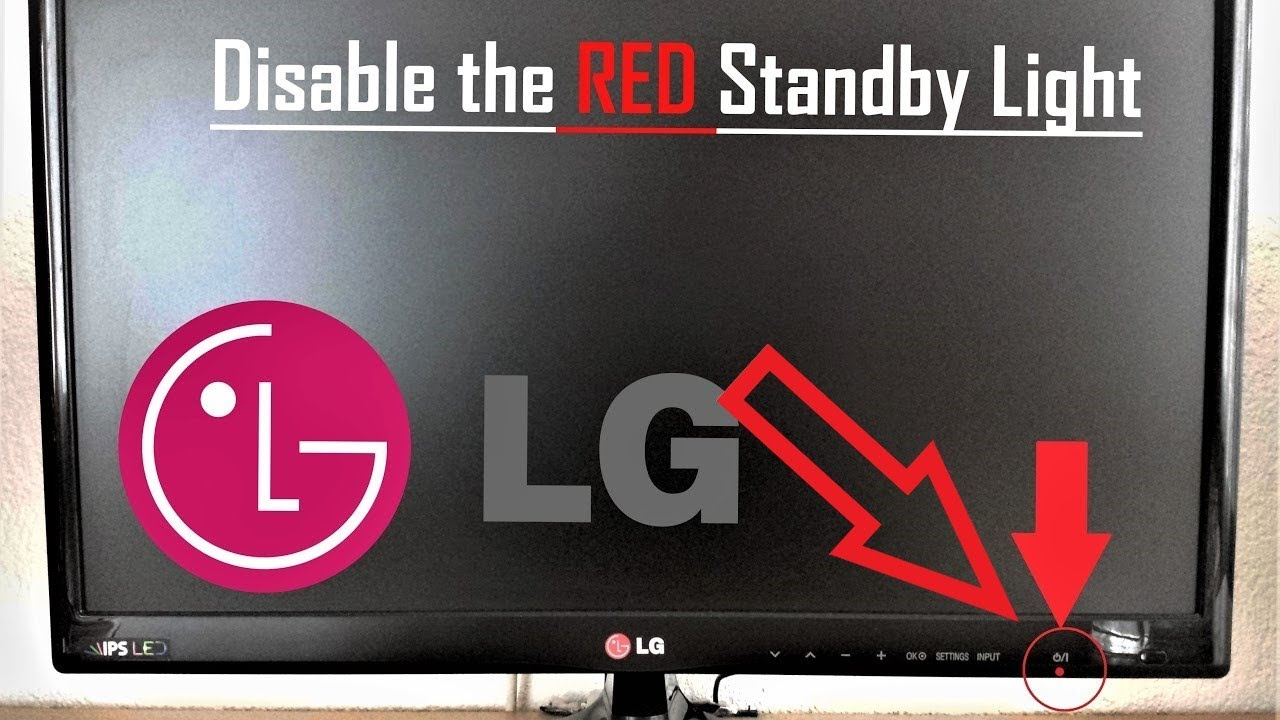 LG TV Turn Off The RED Standby Light