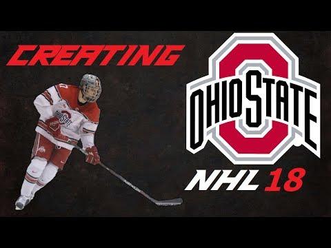 NHL 18 - NCAA: Ohio State University | Created Teams