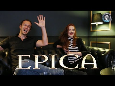 Interview EPICA, Simone Simons &  Mark Jansen - The Holographic Principle 2016 (french subtitles)
