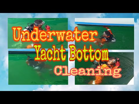HOW TO CLEAN THE BOTTOM OF A YACHT? UNDERWATER CLEANING By DIVER'S.