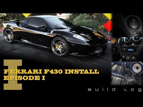 Ferrari F430 Audio System Installation: Episode 1 - Subwoofer, Speakers, Amplifier and Stereo