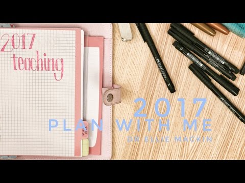 2017 Plan With Me | Academic Bullet Journal