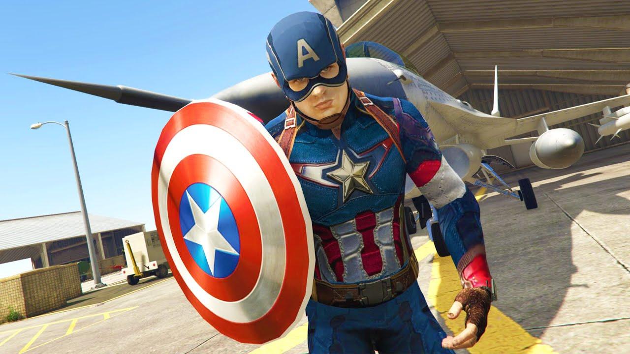 GTA 5 Mods - ULTIMATE CAPTAIN AMERICA MOD! GTA 5 Captain America Mod  Gameplay! (GTA 5 Mods Gameplay)