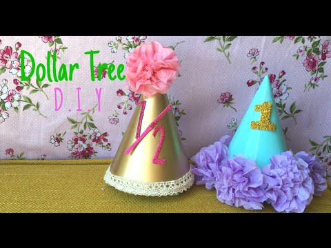 Dollar Tree DIY Baby Birthday Hats