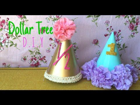 Dollar Tree DIY Baby Birthday Hats YouTube