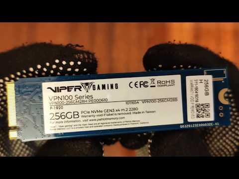 Patriot Viper VPN100 256GB M.2 2280 NVMe PCIe 3.0 x4 3D TLC (VPN100-256GM28H)