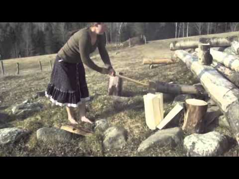 nenets woman cutting firewood - photo #24