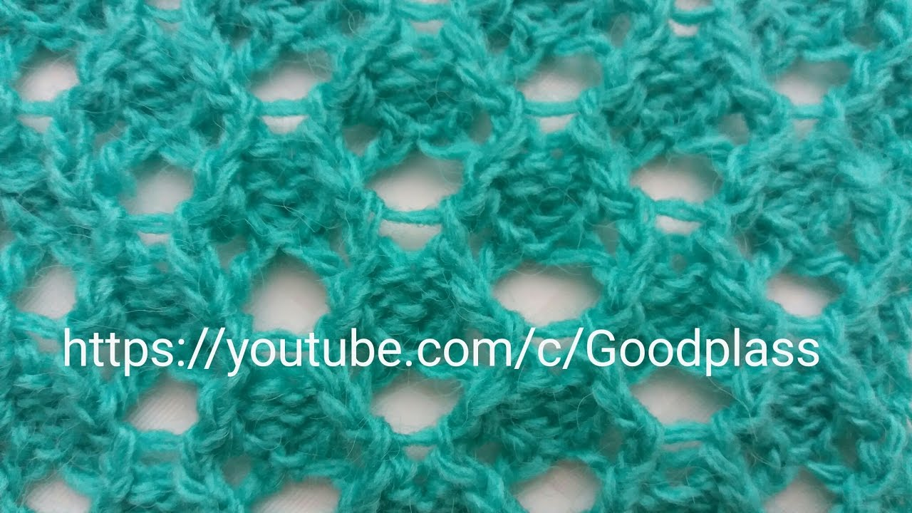 Openwork pattern with holes. Knitting with knitting ...