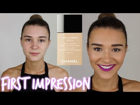 First Impression - Chanel Vitalumiere Aqua Foundation