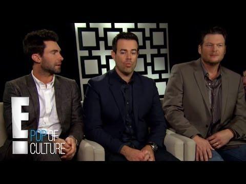 "Adam Levine, Blake Shelton and Carson Daly on ""The Voice"" | E! Entertainment"