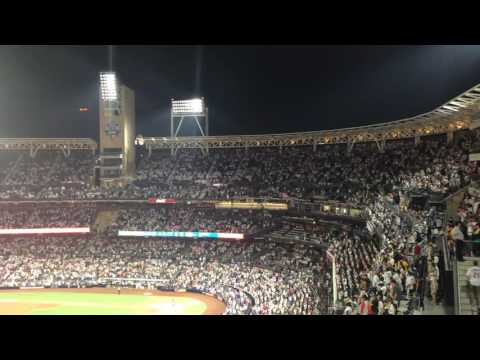 "7th Inning stretch ""Take Me Out To The Ballgame"" at Petco Park"