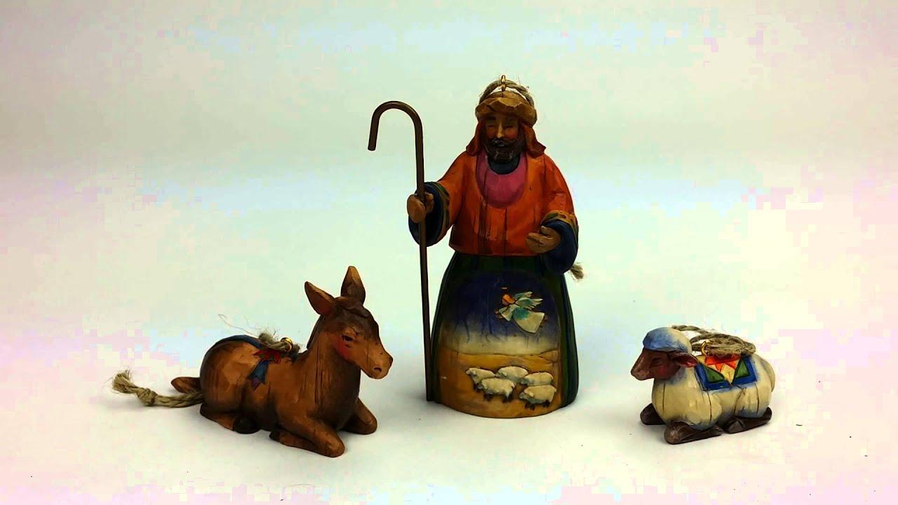 Donkey Christmas Ornaments.Jim Shore Hanging Christmas Ornaments Shepherd Donkey Sheep
