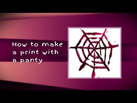 How to make prints with a panty hose