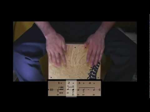 Cajón Rock Pop R 1 (1 / 4) Como tocar / How play the cajon rock pop R 1