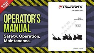 Operator's Manual: Murray EMP22675HW High Wheel Self-Propelled Walk Behind Mower (7104552)