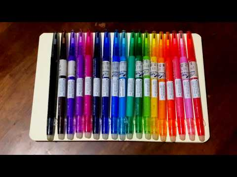 Pilot Frixion Ball Slim Pens Swatches