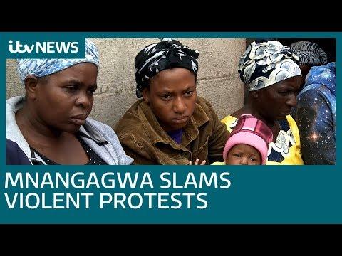Zimbabwe president Emmerson Mnangagwa issues warning | ITV News