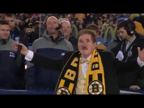 Rene Rancourt sings the anthems at Gillette 12/31/15