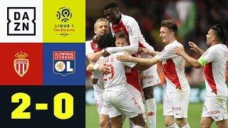 Monaco gelingt Befreiungsschlag im Abstiegskampf: AS Monaco - Olympique Lyon 2:0 | Ligue 1 | DAZN