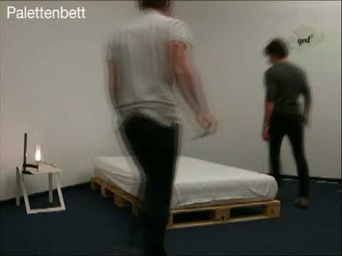 palettenbett youtube. Black Bedroom Furniture Sets. Home Design Ideas