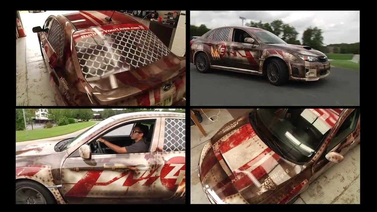 Ultimate Zombie Escape Vehicle Car Wrap Subaru Wrx