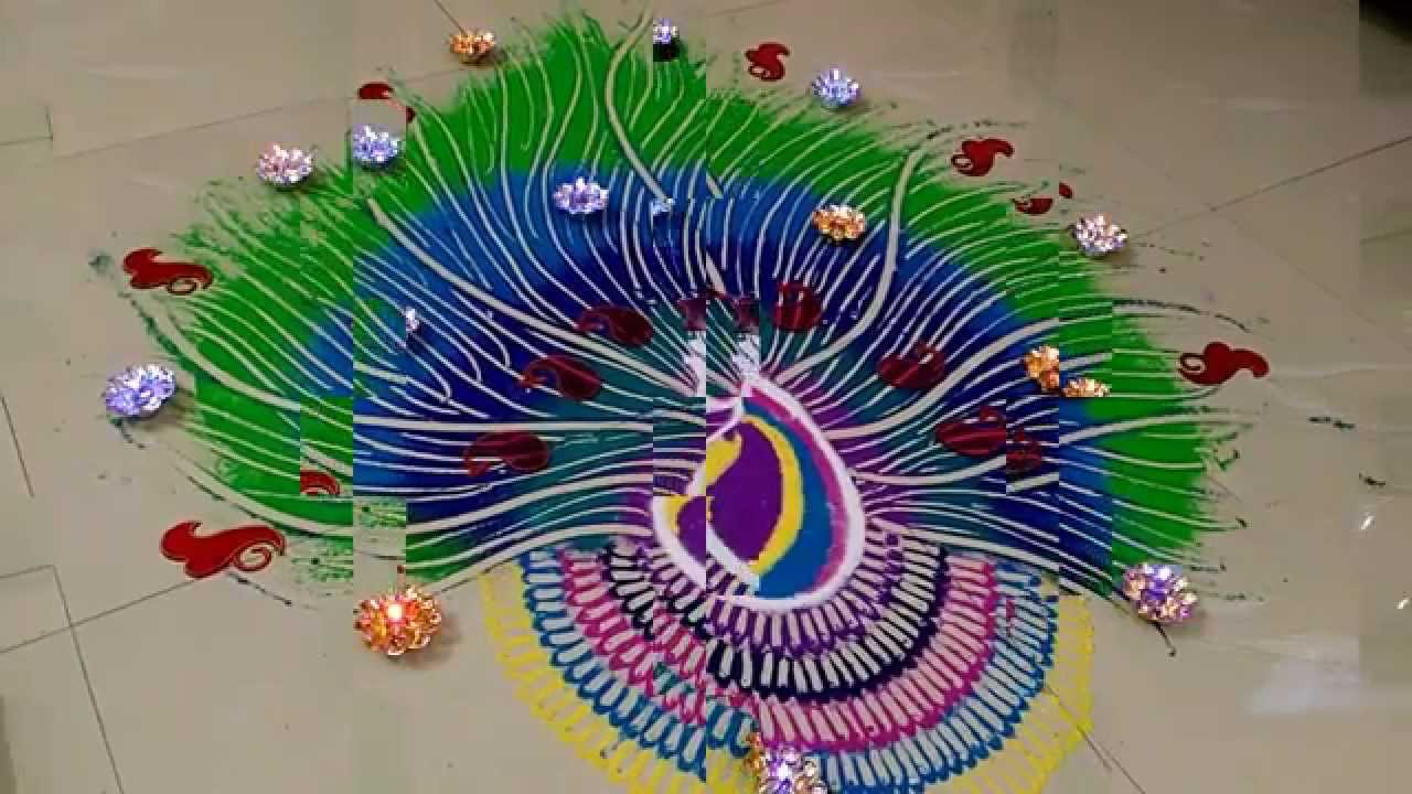 35  Cool How To Draw Peacock Rangoli Step By for How To Draw Peacock Rangoli Step By Step  565ane