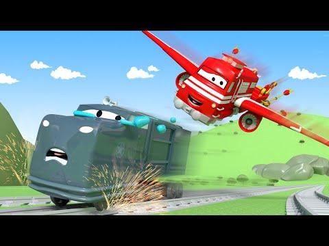Troy de Trein 🚄  Troy het vliegtuig redt Joe  🚄 Autostad - Trein cartoons voor kinderen