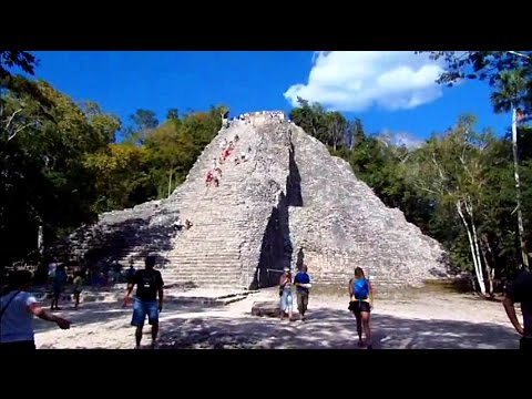 Exploring Coba Mayan Ruins in the Jungle of Mexico