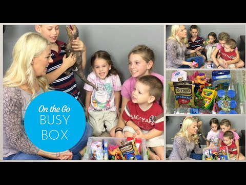 On The Go Busy Box - Keeping The Littles Busy!