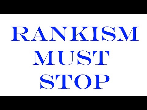 Rankism Must Stop!