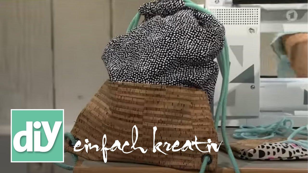 turnbeutel mit korkboden diy einfach kreativ youtube. Black Bedroom Furniture Sets. Home Design Ideas