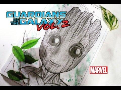 Worksheet. DrawingCmo dibujar a Bebe Groot de los Guardianes de la galaxia