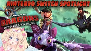 HOW TO TRAIN YOUR DRAGON ~ ZELDA LIKE GAME ~ Dragons Dawn of New Riders ~ Nintendo Switch ~ Vtuber
