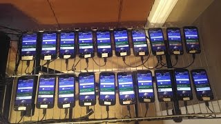 ~40 Device Android Automation Test using Python